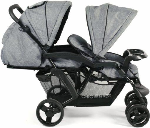 Podwójny wózek  CHIC4BABY dla rodzeństwa