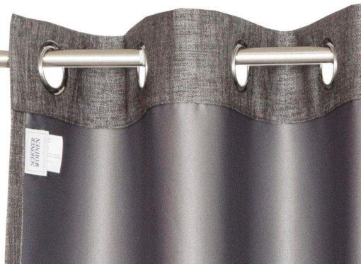 Stylowe, szare zasłony 250x140 cm