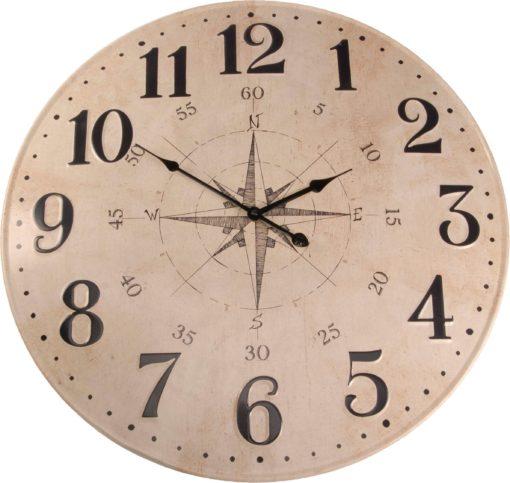 Nowoczesny, metalowy zegar ścienny