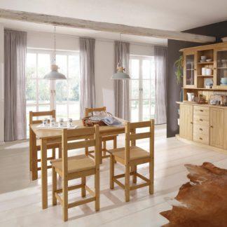 Sosnowy zestaw stół i cztery krzesła