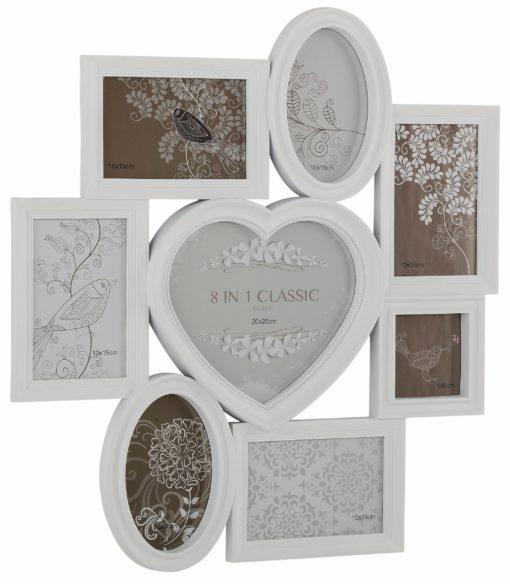 Piękna dekoracyjna biała ramka aż na 8 zdjęć!