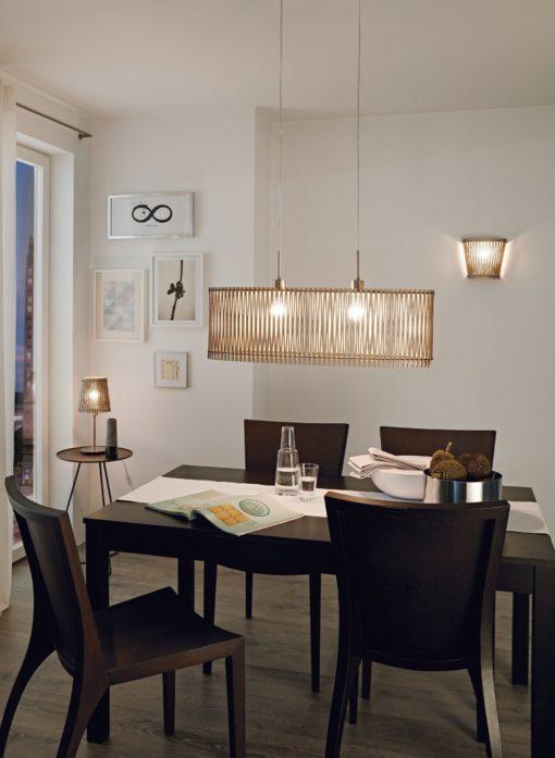 Wyjątkowa lampa wisząca ze stali i drewna