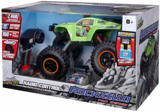 Super auto Monster Truck Rockzilla RC Zielony