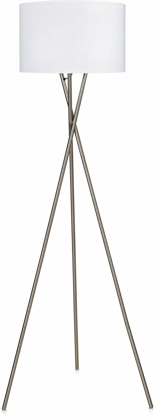 Piękna lampa podłogowa na 3 metalowych nogach