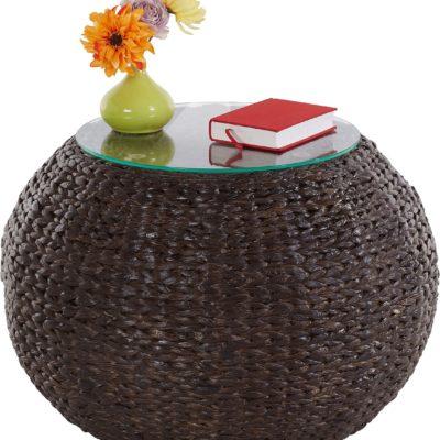 Wyjątkowy pleciony stolik z hiacyntu wodnego
