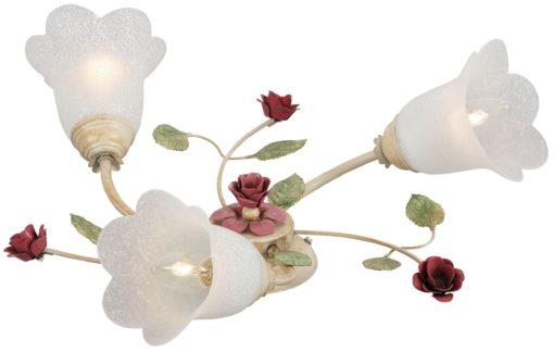 Piękna lampa z kwiatami i 3 punktami światła