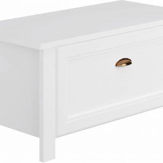 Urocza biała szafka z siedziskiem
