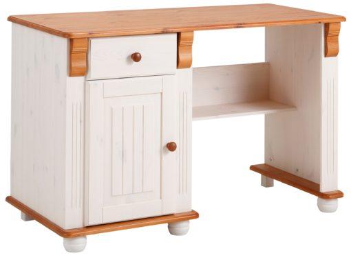 Zachwycające, drewniane biurko ze zdobieniami