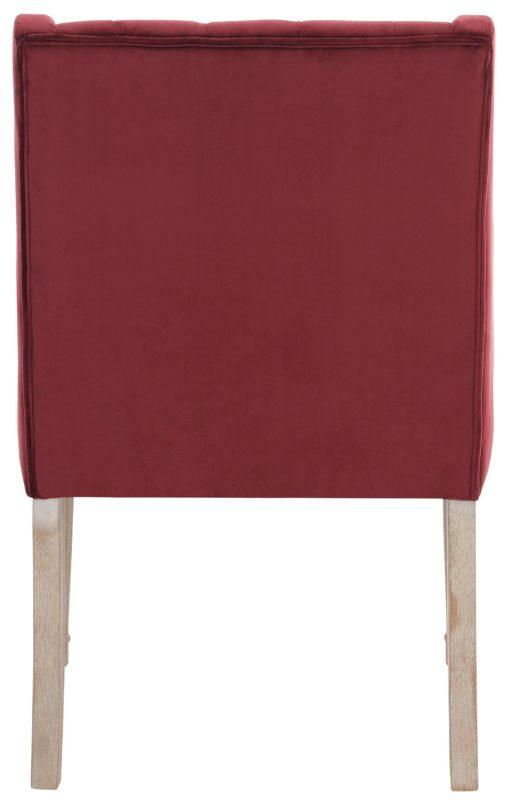 Fotel z toczonymi nogami i pikowanym oparciem, bordowy