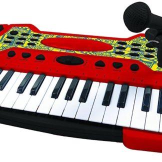 Keyboard z mikrofonem do zabawy, z motywem z bajki Auta