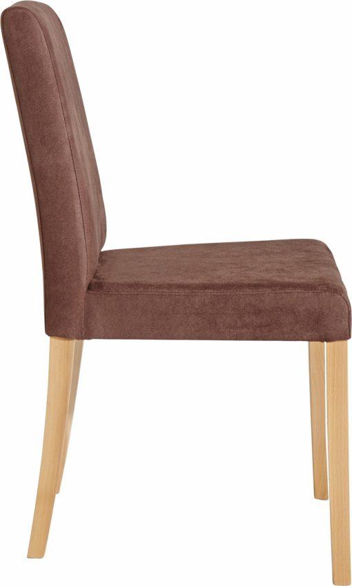 Dwa brązowe, ponadczasowo eleganckie krzesła