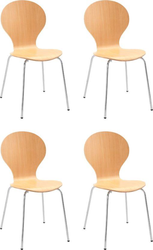 Zestaw 4 krzeseł w minimalistycznym, ponadczasowym designie