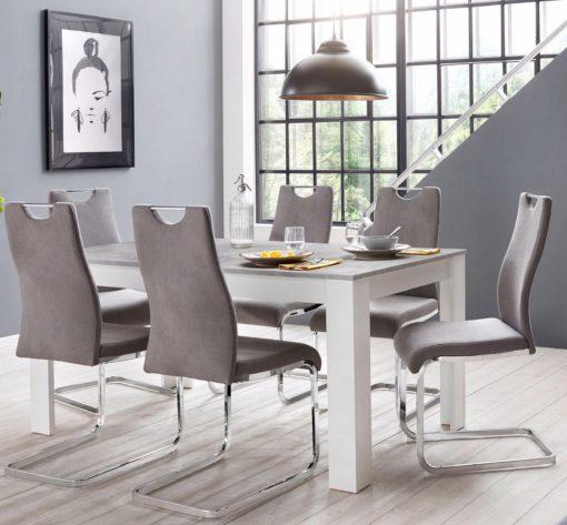Zestaw 4 gustownych krzeseł na płozach