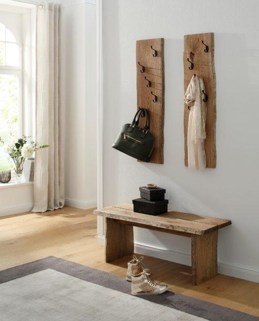 Minimalistyczna, dębowa ławka