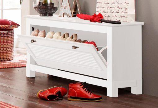 Elegancka ławeczka do przechowywania butów