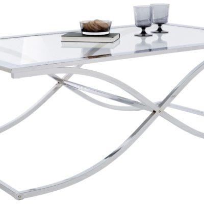 Szlachetny stolik do salonu, metal+ szkło
