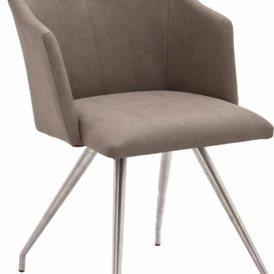 Modernistyczne krzesła/ fotele w kolorze taupe