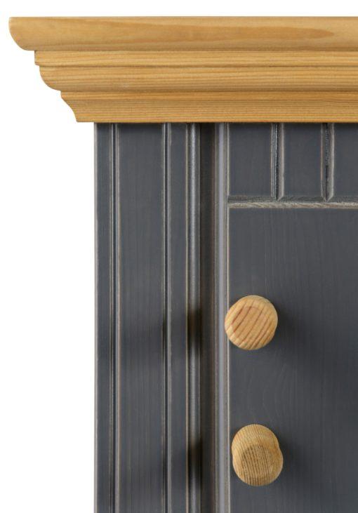 Zestaw dwóch paneli z drewna, w stylu rustykalnym