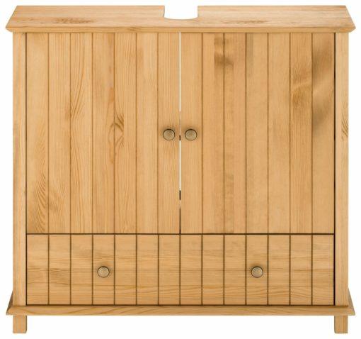 Sosnowa szafka pod umywalkę z szufladą
