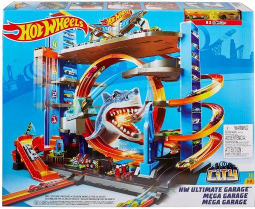 Super zestaw Hot Wheels Mega Garaż Atak Rekina
