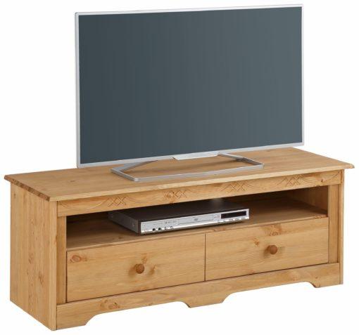 Sosnowa szafka RTV w stylu rustykalnym