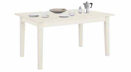 Sosnowy, rozkładany stół w rustykalnym stylu, biały