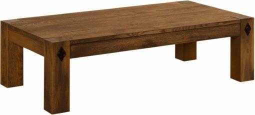 Stolik w rustykalnym stylu, z okuciami