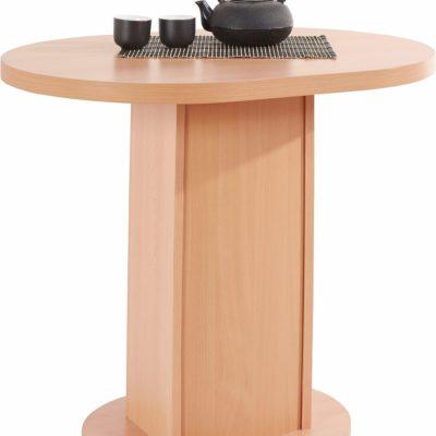 Owalny stół o prostym wyglądzie