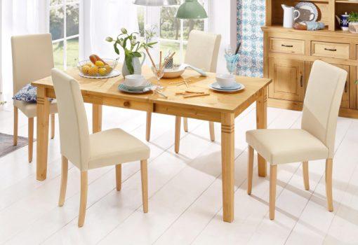 Sosnowy, rustykalny stół z szufladką 160 cm