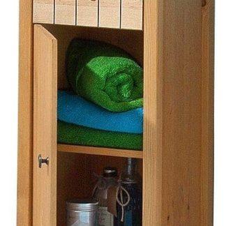 Zgrabna szafka łazienkowa z sosny