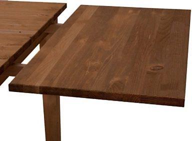 Blat do przedłużenia stołu z sosnowy, kolor kolonialny