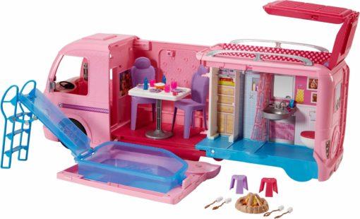 Świetny samochód kamper dla lalek Barbie na wakacje