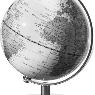 Piękny i unikalny czarno-biały mini globus