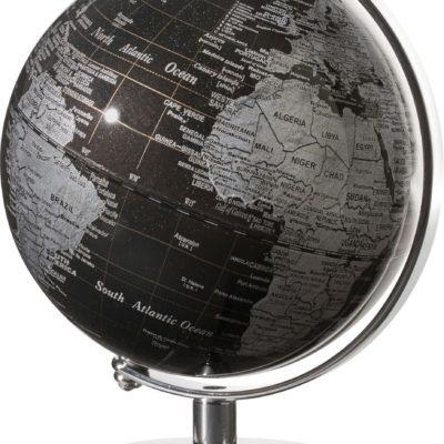 Unikalny mini globus w czarnej kolorystyce
