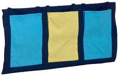 Kolorowe i praktyczne kieszonki do przymocowania przy łóżku piętrowym