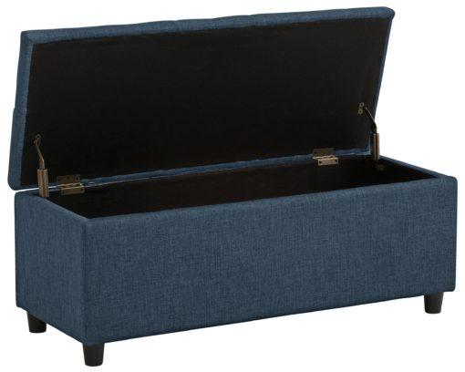Gustowna ławka ze schowkiem obita piękną tkaniną