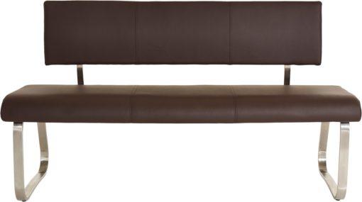 Wyjątkowa ławka pokojowa wykonana ze skóry, 3-osobowa