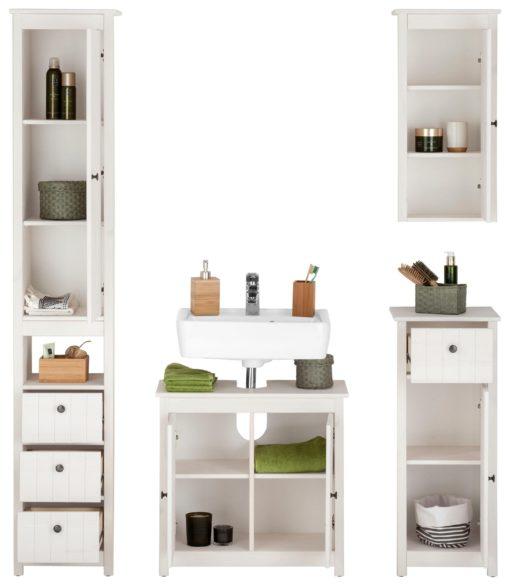 Fantastyczny 4-częściowy zestaw szafek do łazienki