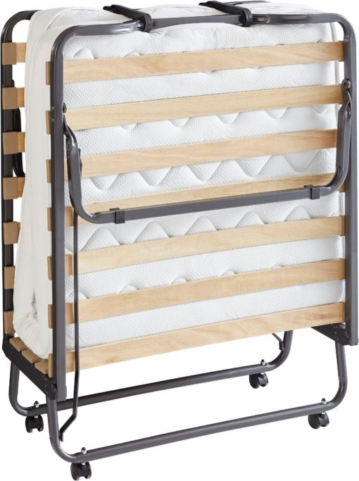 Praktyczne rozkladane łóżko dla gości na kółkach