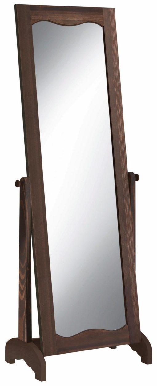 Piękne stojące lusto w drewnianej ramie