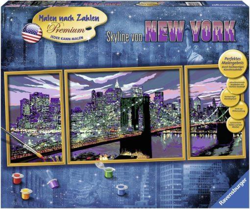 """Świetny zestaw do malowania według cyfr z serii """"Nowy York"""" Rawensburger"""