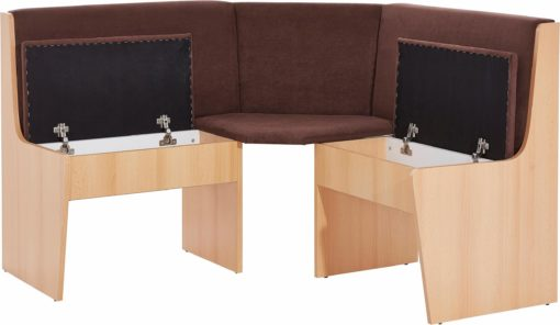 Praktyczna ławka narożna, tapicerowana