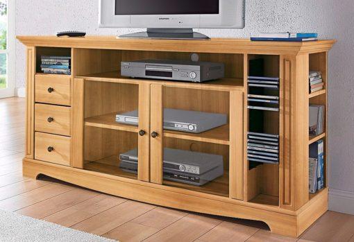 Stylowa i praktyczna szafka RTV z wieloma półkami