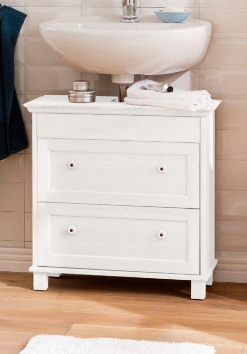 Piękna szafka pod umywalkę z litej sosny w jasnym kolorze