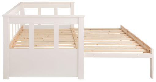 Atrakcyjna, rozkładana kanapa 90x200 cm, biała