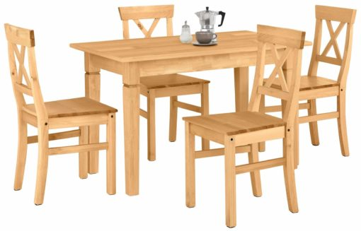 Zestaw stół i cztery krzesła z litej sosny