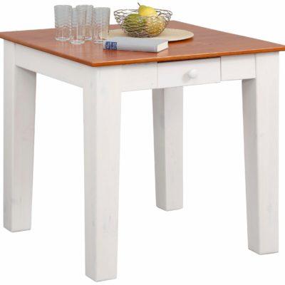 Kwadratowy stół do jadalni z szufladą 80x80 cm