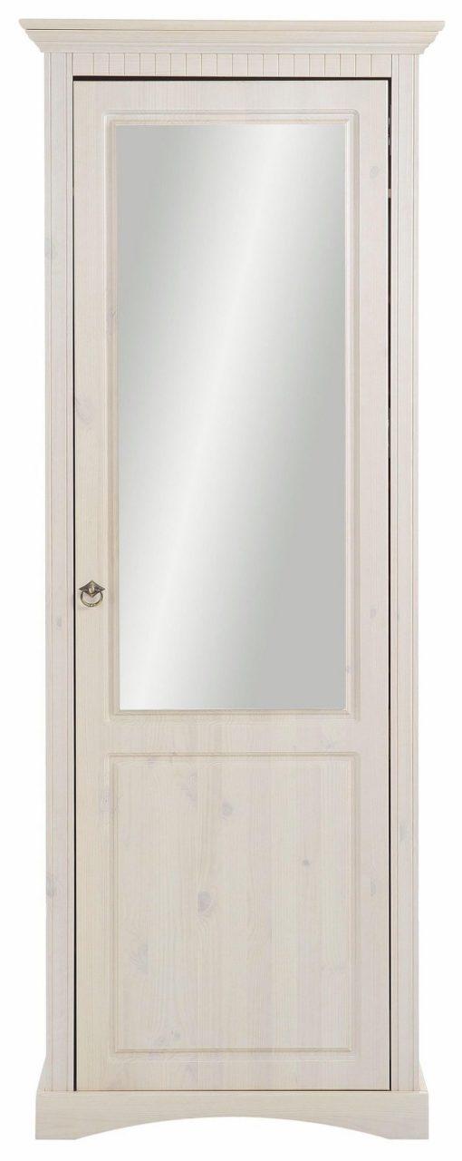 Duża szafa na buty z sosny, drzwi z lustrem