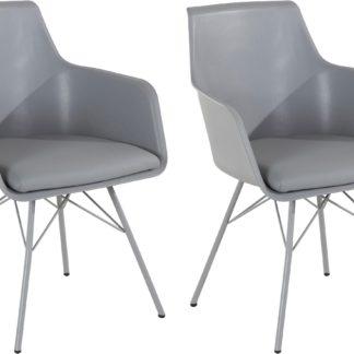 Eleganckie, wyrafinowane szare krzesła - 4 sztuki