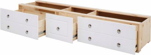 Ciekawy zestaw szuflad pod łóżko - HIT!